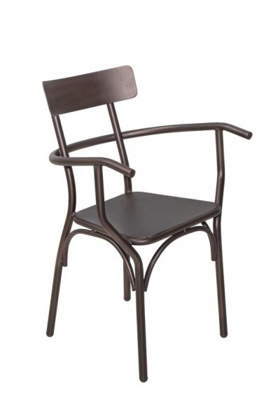 Metal chair Cappuccino/P