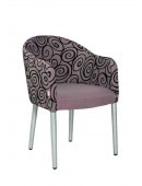 Metal chair Bocca/M